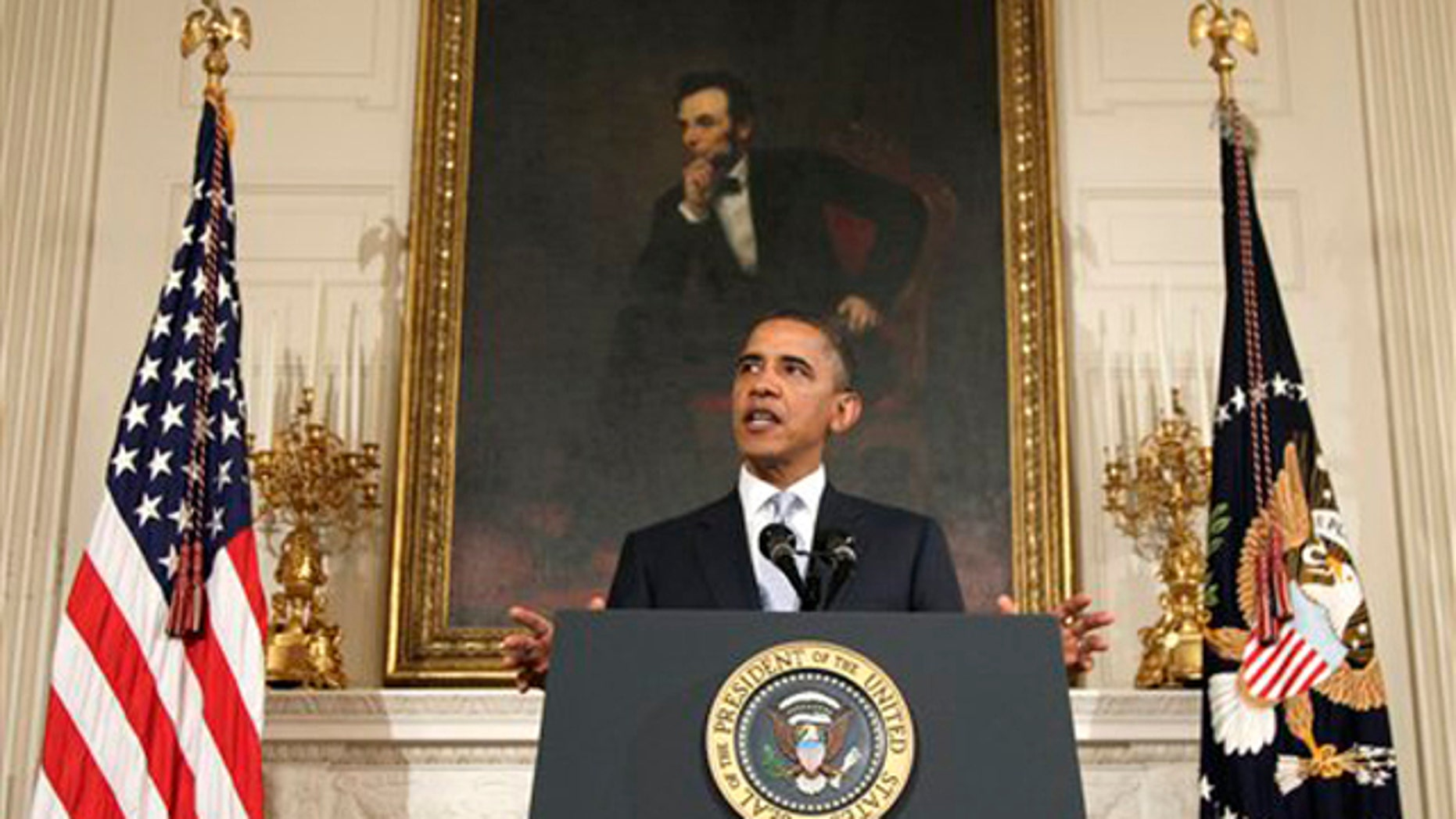 Monday: President Obama speaks in the State Dining Room of the White House on the S&P downgrade.