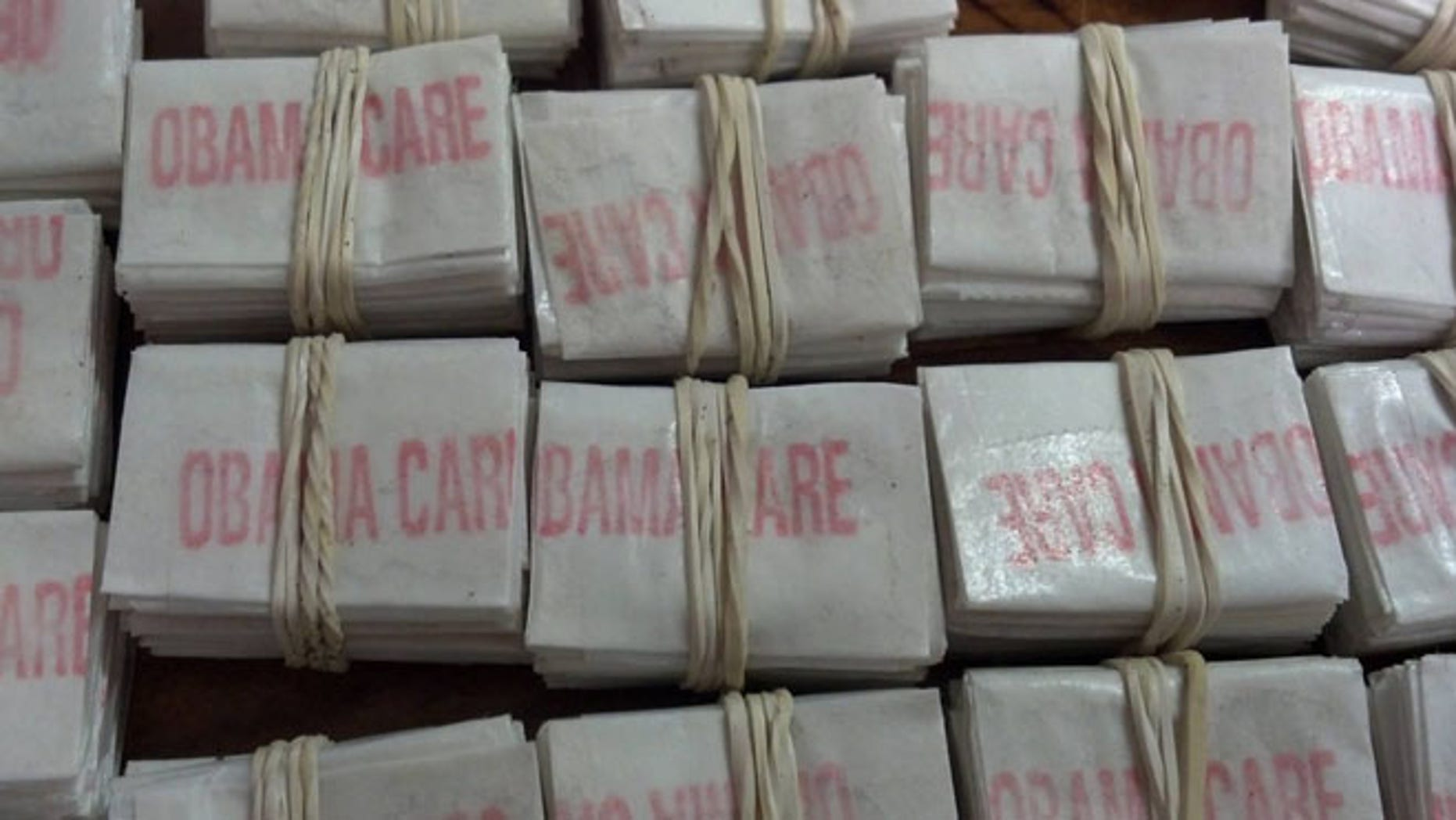 "Massachusetts state troopers pulled over a vehicle carrying 1,250 bags of heroin marked ""ObamaCare"""