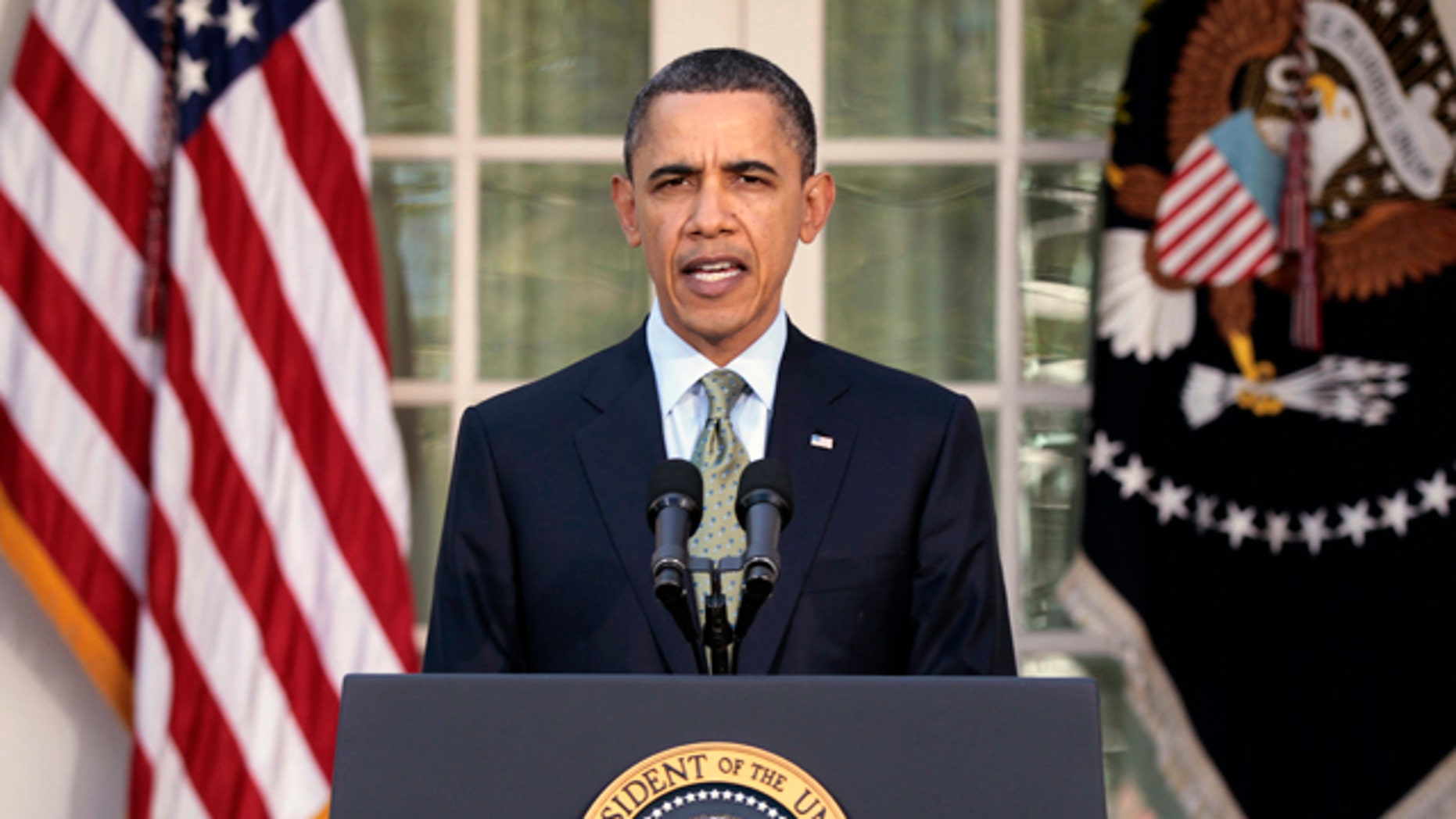 March 17: Obama makes a statement at the White House about Japan following last week's earthquake, tsunami, and subsequent nuclear concerns.