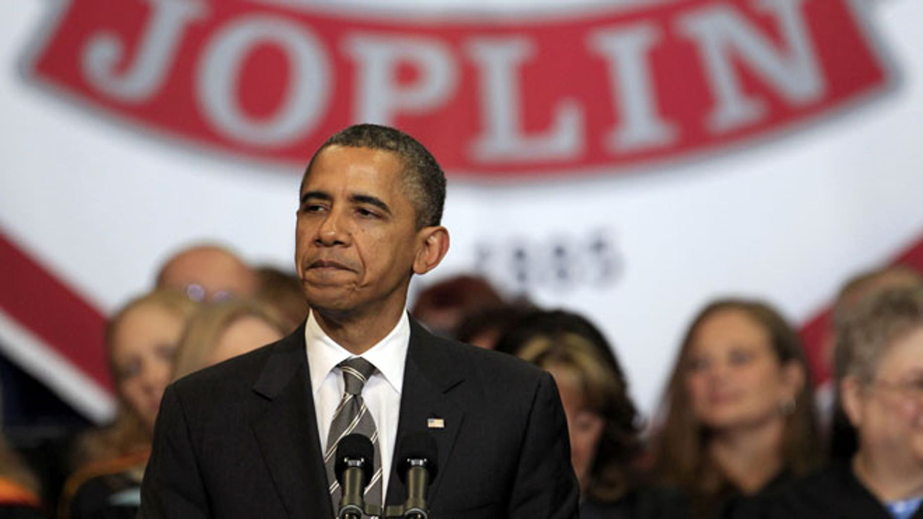 May 21, 2012: President Barack Obama delivers the commencement address to graduates of Joplin High School in Joplin, Mo.