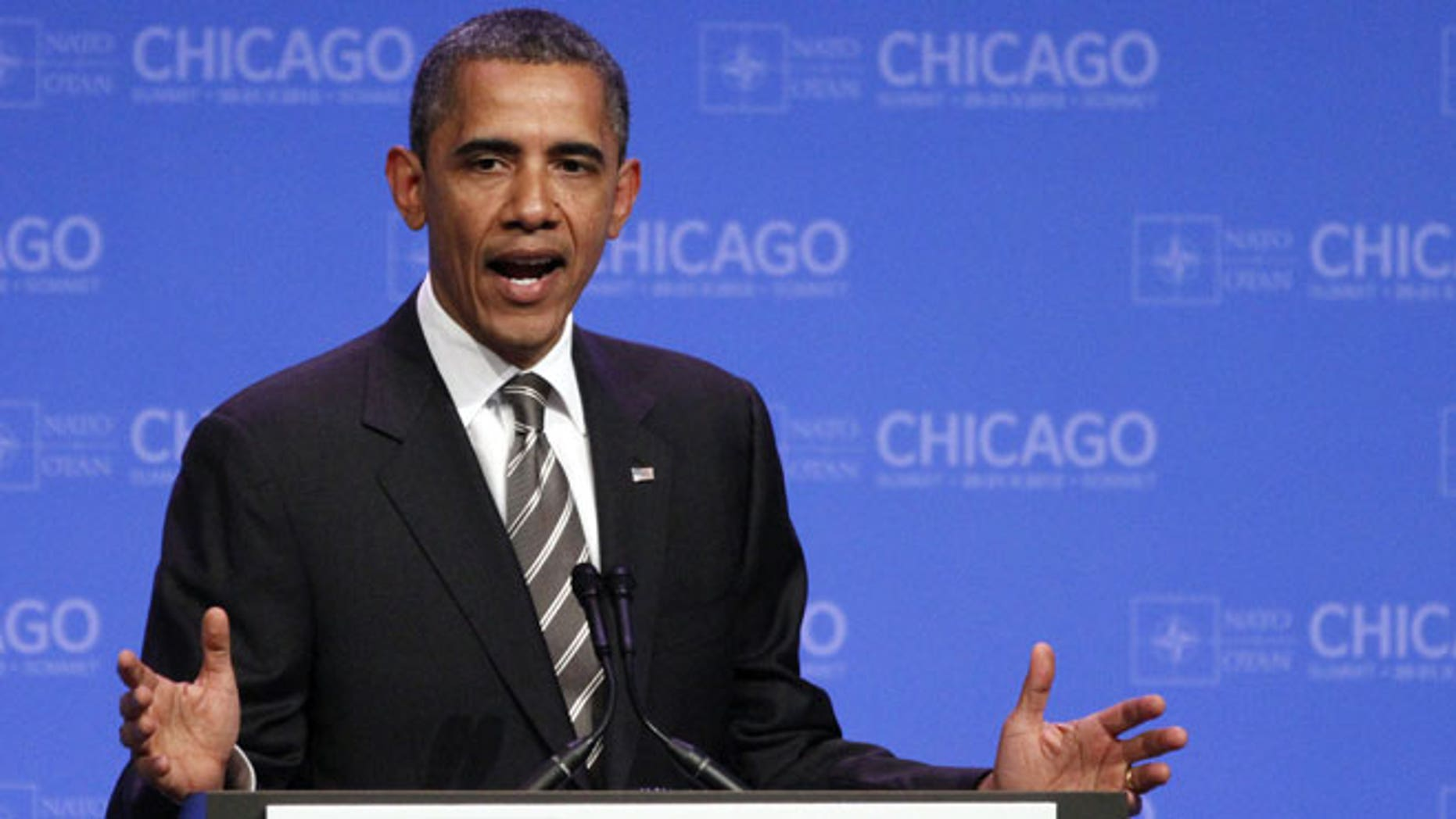 May 21, 2012: President Barack Obama speaks at a news conference at the NATO Summit in Chicago.