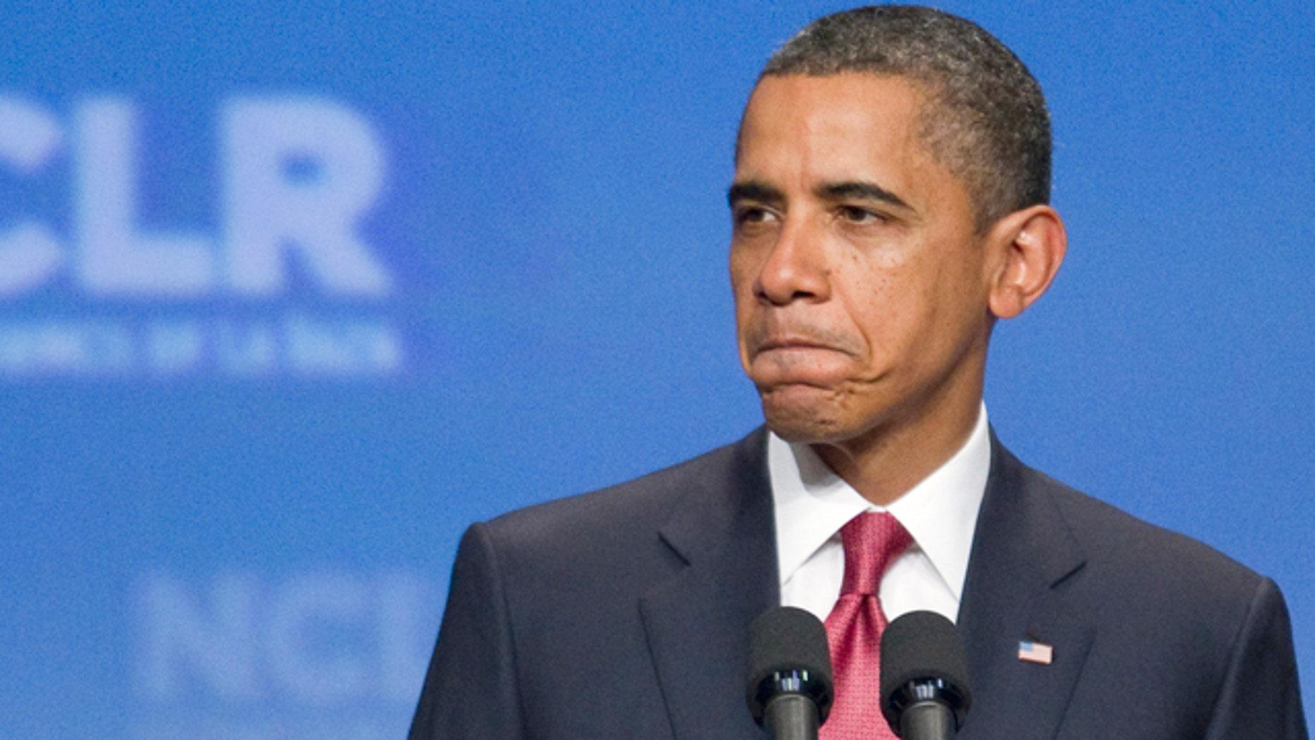 July 25, 2011: President Obama speaks to the National Council of La Raza.
