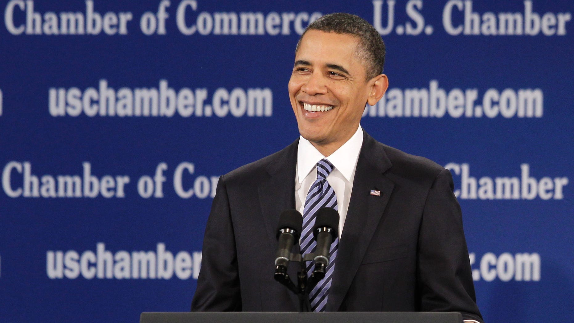 Feb. 7: Obama speaks at the U.S. Chamber of Commerce in Washington.