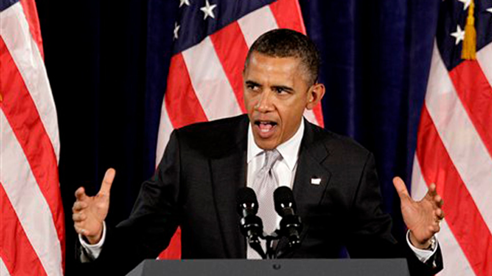Tuesday, June 26, 2012: President Barack Obama speaks at a fundraising event  in Atlanta.