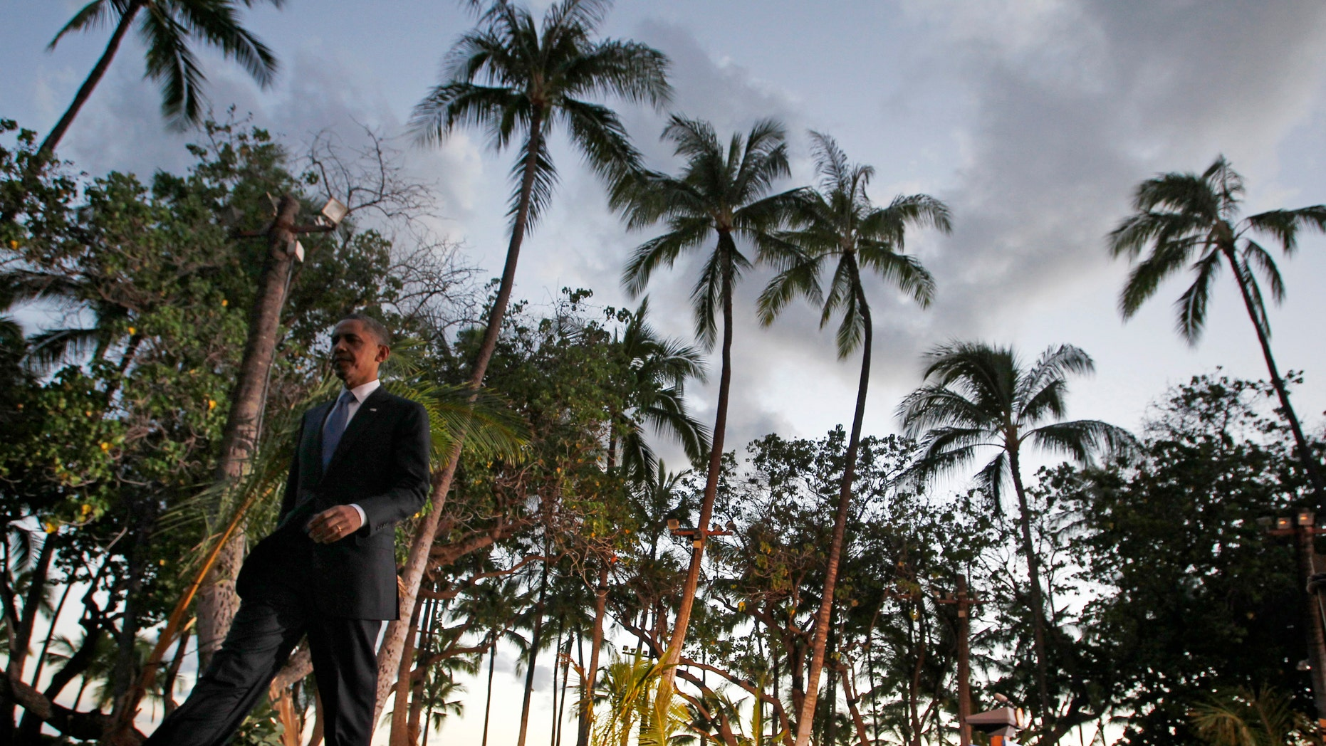 FILE: Nov. 13, 2011: President Obama at the APEC Summit in Honolulu, Hawaii, his home state and potential site of the future Obama presidential library.