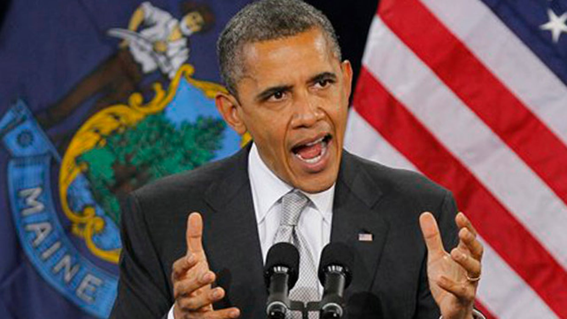President Obama in Portland, Maine, March 20, 2012