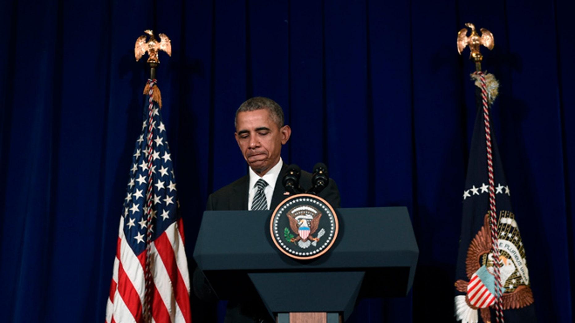 Sunday, Nov. 22, 2015: President Obama at a news conference in Kuala Lumpur, Malaysia.