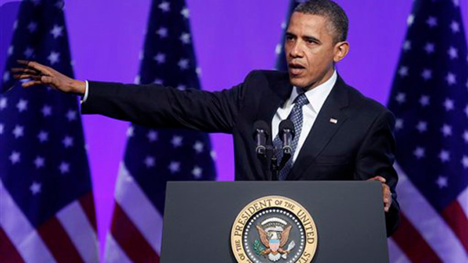 April 3, 2012: President Obama speaks at an Associated Press luncheon in Washington.