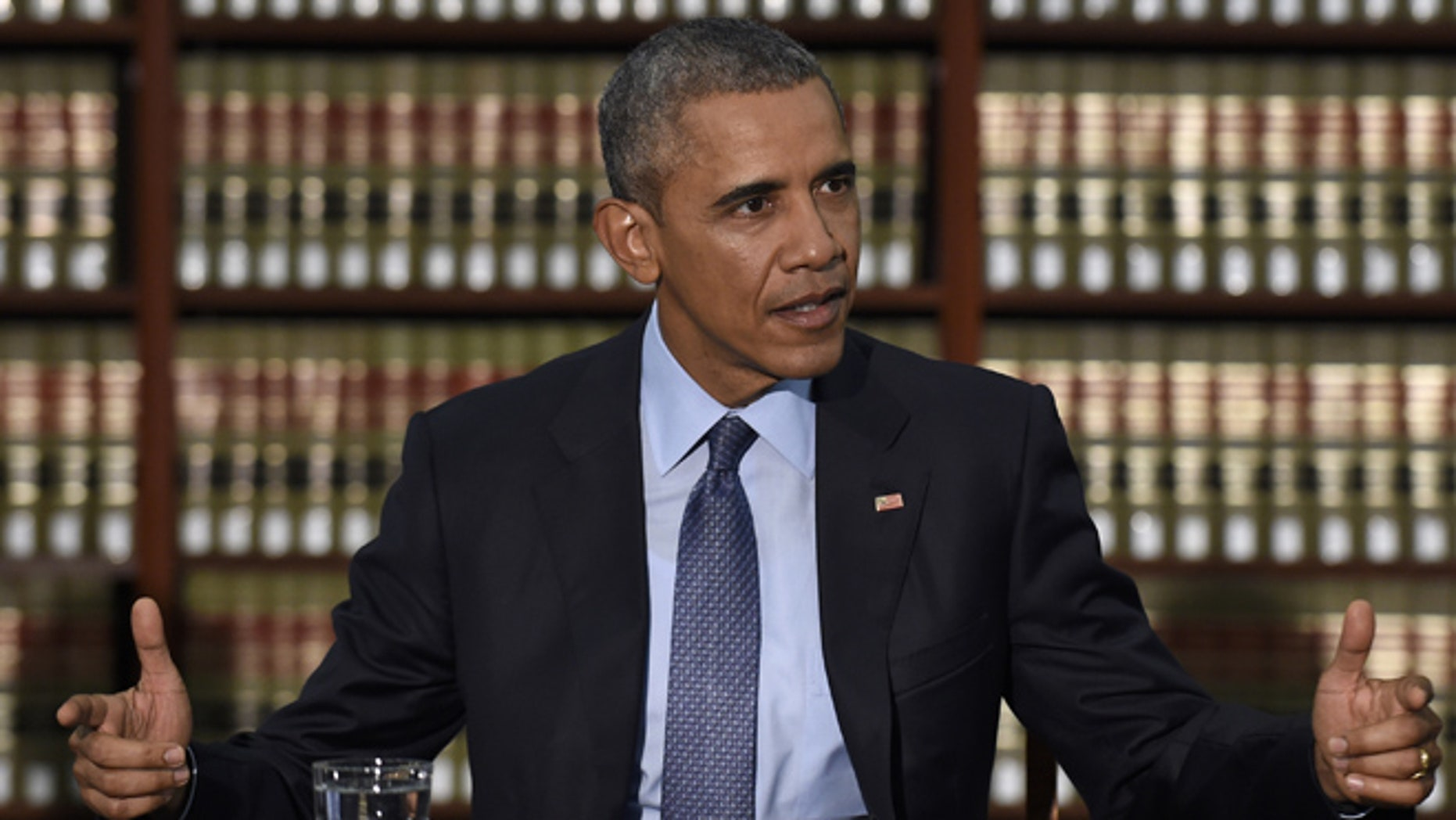 Nov. 2, 2015: President Obama at Newark Rutgers University Center for Law and Justice in Newark, N.J.