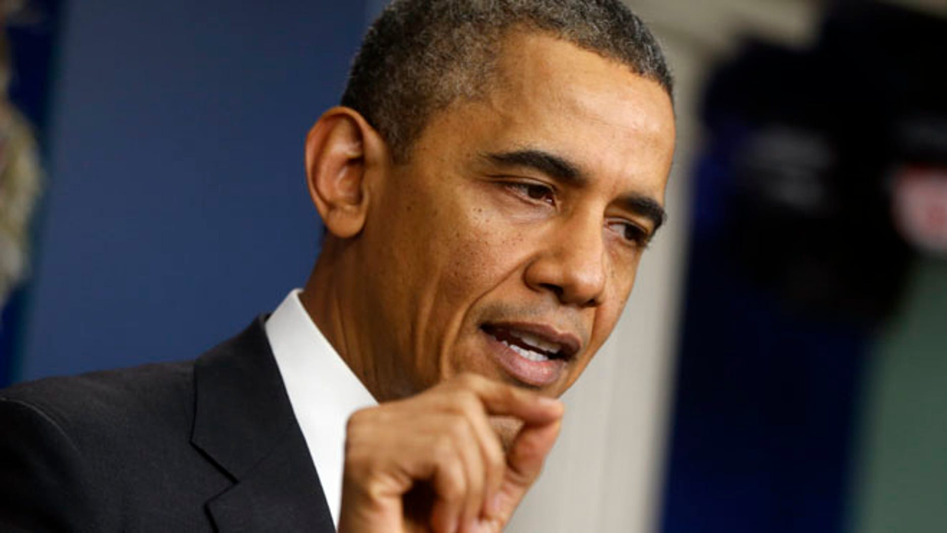 President Obama speaks during his end-of-the-year news conference at the White House in Washington, Friday, Dec. 20, 2013.