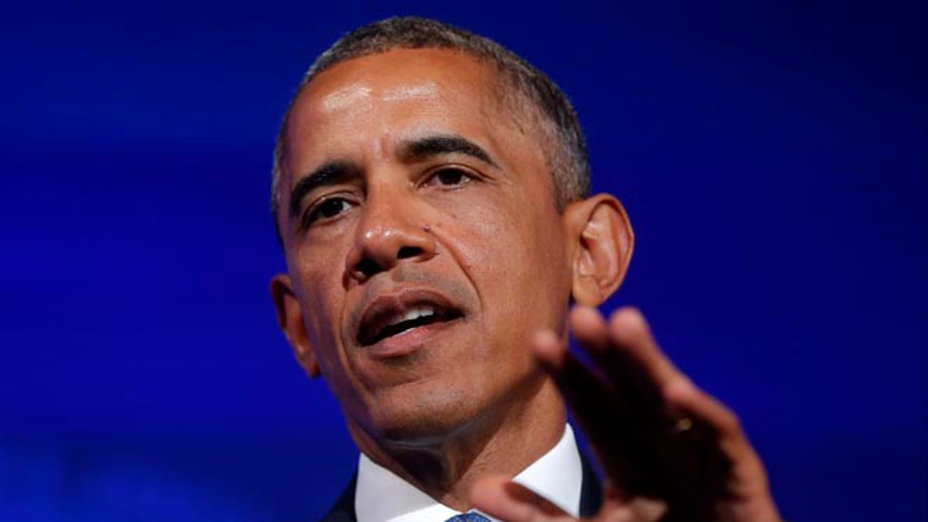 FILE: Aug. 5, 2014; President Obama speaks at the U.S. Africa Business Forum, in Washington, D.C.