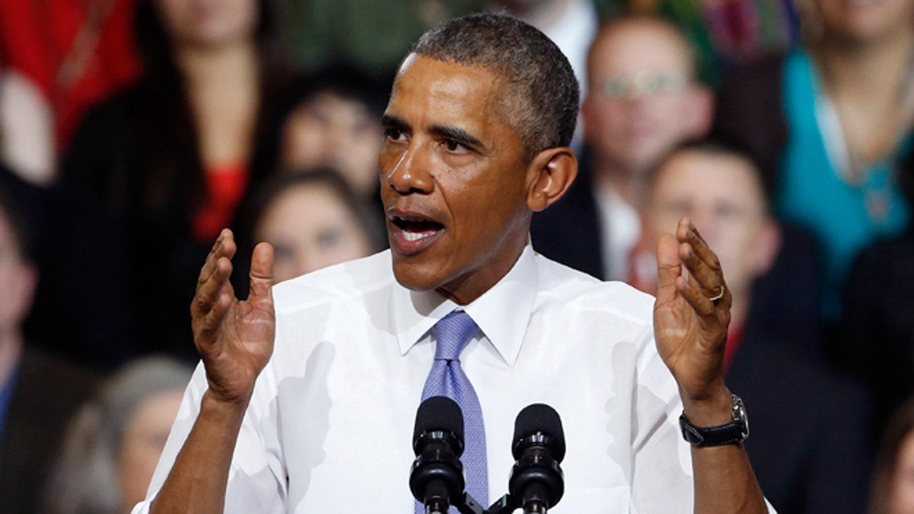 Thursday, Jan. 8, 2015 photo of President Barack Obama in Phoenix.