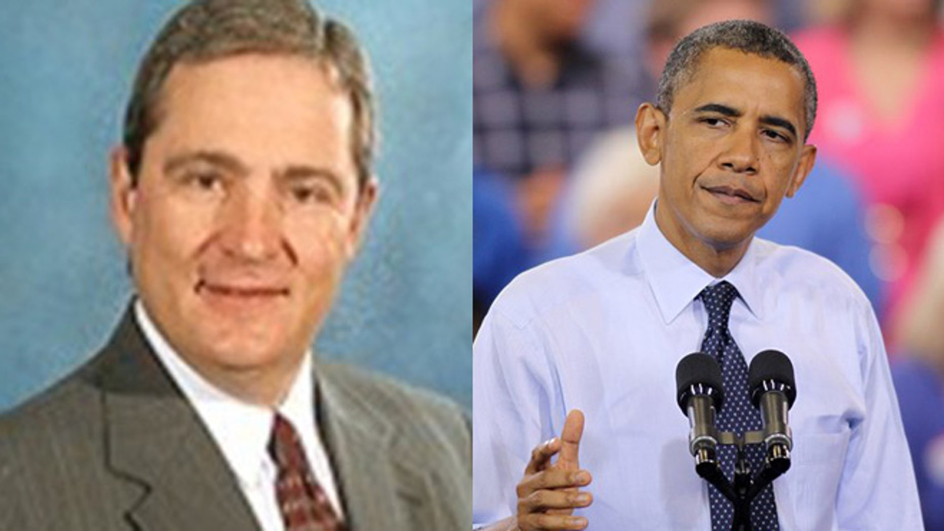 Shown here are Lubbock County Judge Tom Head and President Obama.