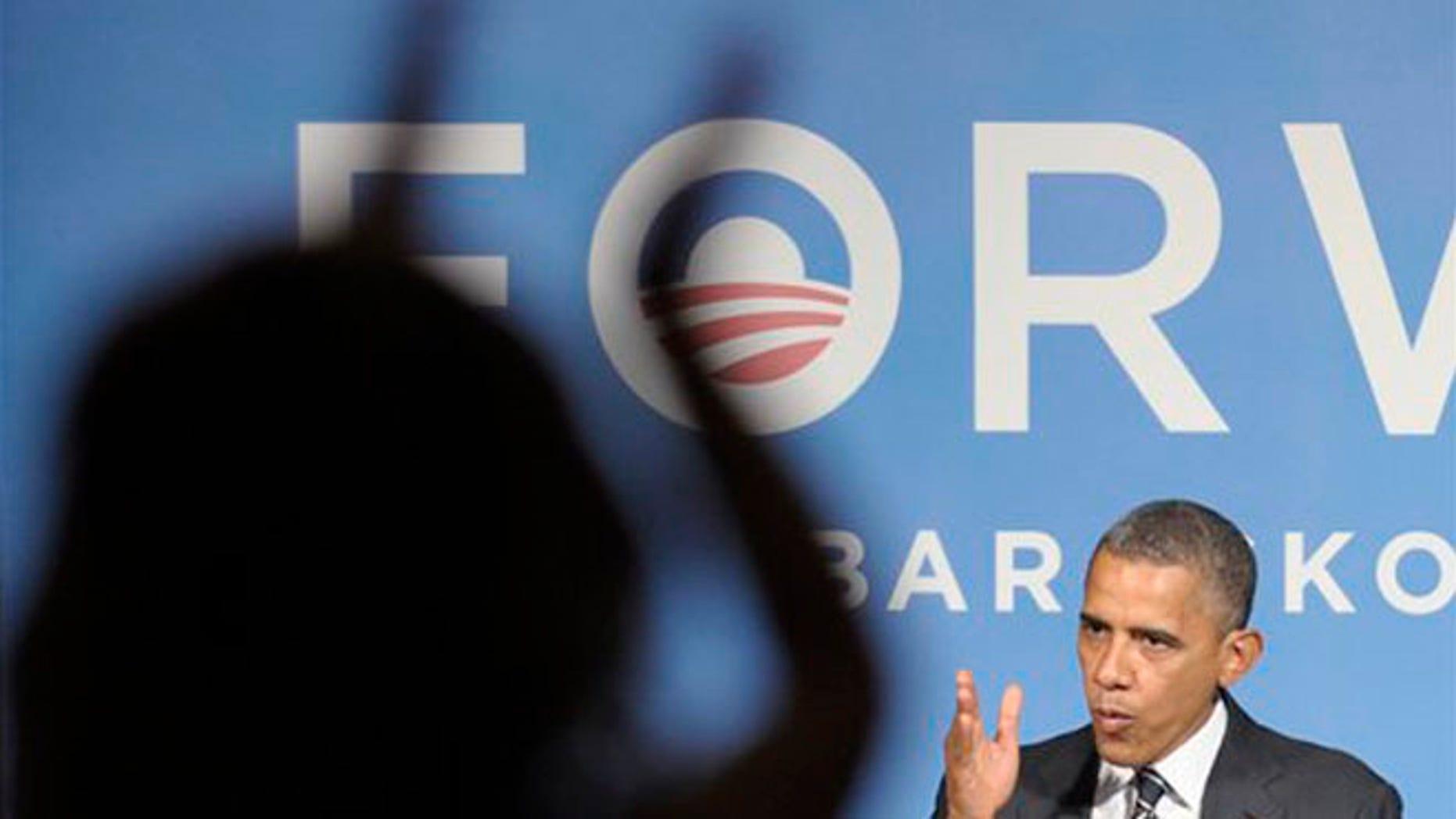 FILE:  Sept. 28, 2012: President Barack Obama speaks at a campaign event in Washington.