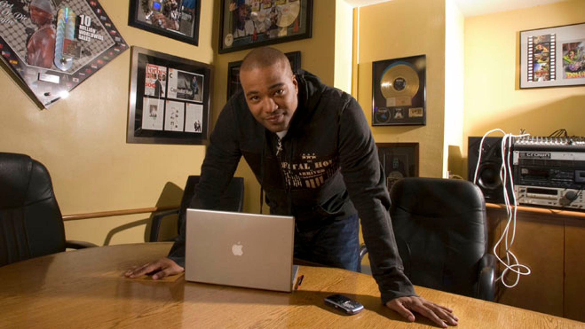 Feb. 28, 2007: This file photo shows hip-hop mogul Chris Lighty in his office in New York.