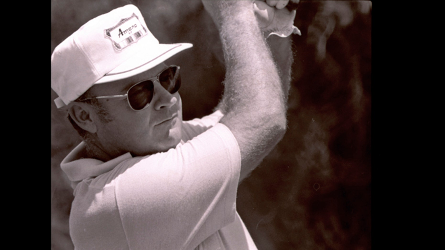 In this April 23, 1977, file photo, Miller Barber hits during the first round of the New Orleans Open golf tournament in New Orleans. Barber, the unique-swinging golfer who made the most combined starts on the PGA and Champions tours, died Tuesday, June 11, 2013, the PGA said on Wednesday.