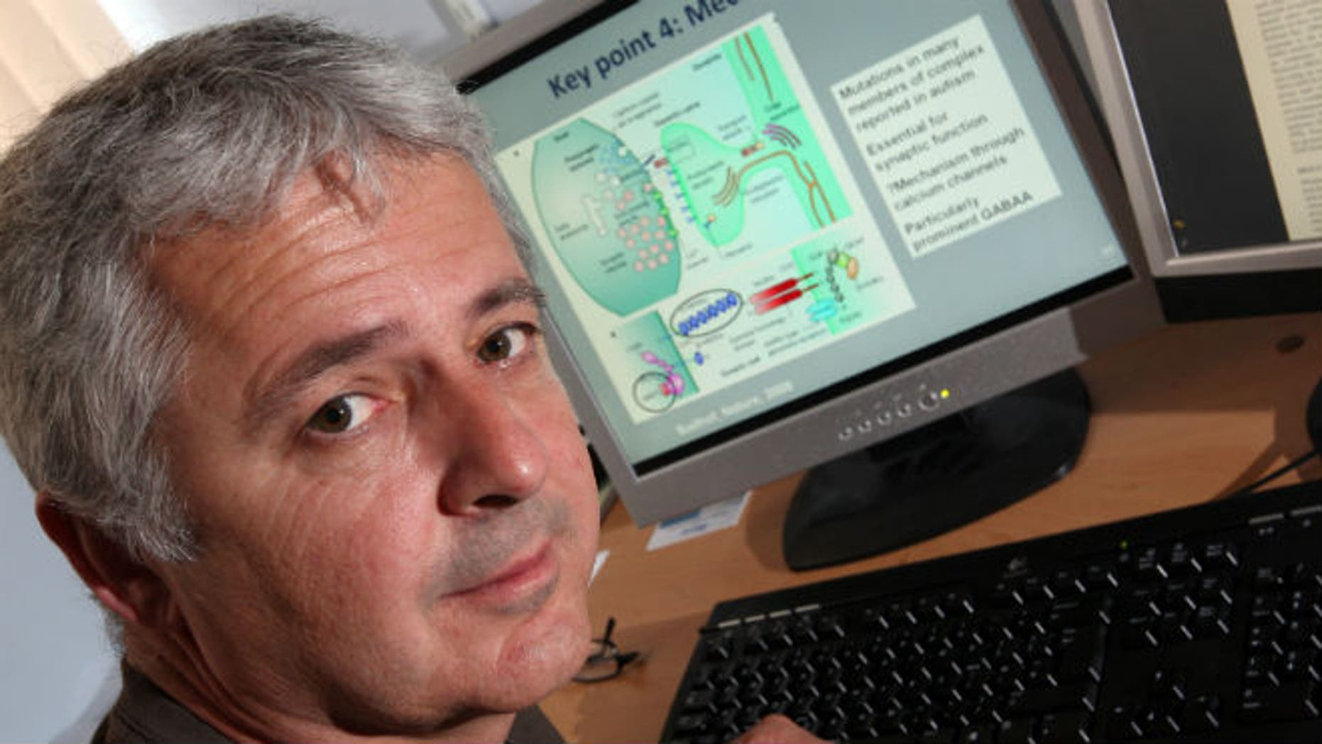 This 2013 file photo provided by Cardiff University shows Dr. Michael O'Donovan, deputy director of the MRC Centre for Neuropsychiatric Genetics and Genomics at Cardiff University School of Medicine in Cardiff, Wales, United Kingdom. (AP Photo/Cardiff University School of Medicine)