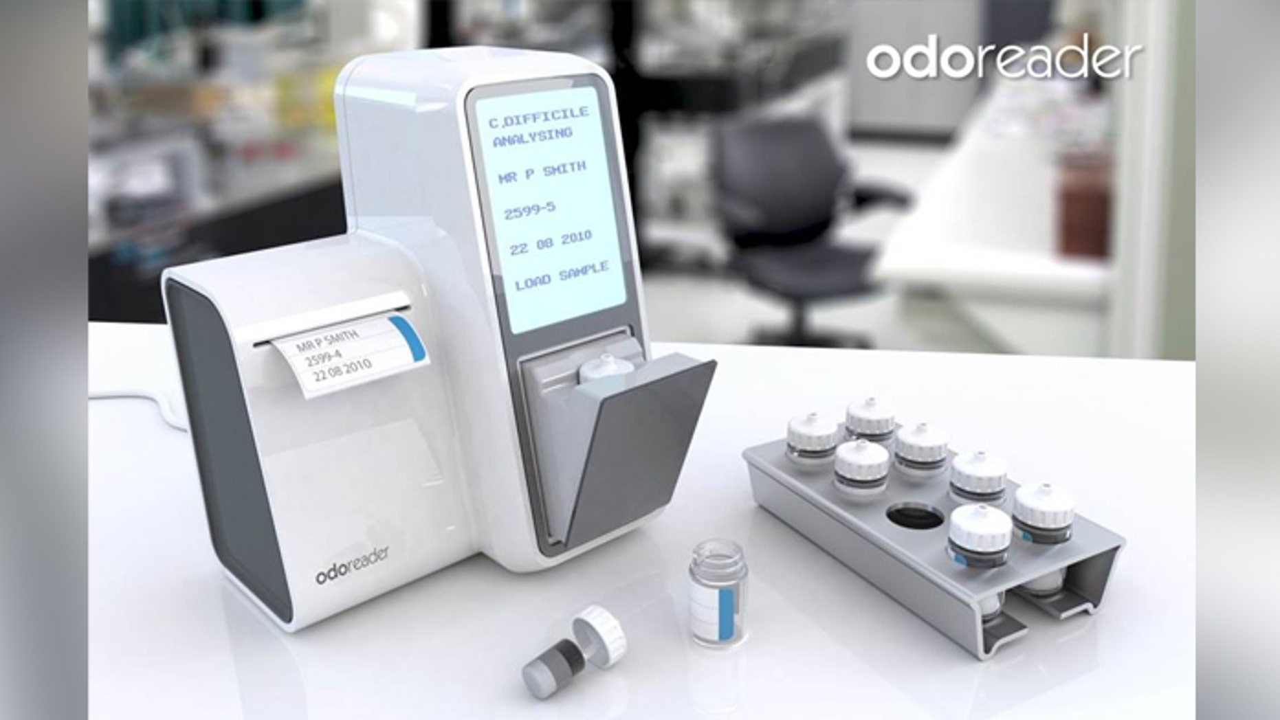 An artist impression of the ODOREADER device, first designed to diagnose patients with C. difficile.