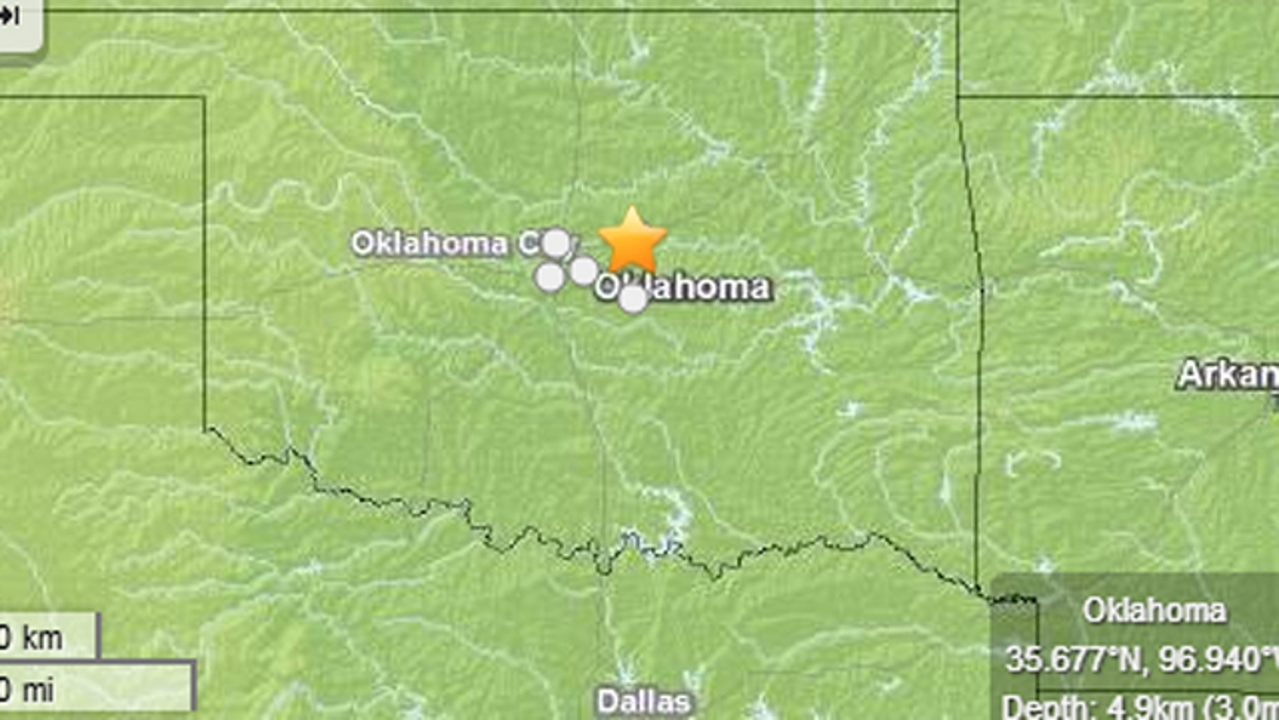 April 16, 2013: A series of earthquakes shook central Oklahoma, but no injuries have yet been reported.