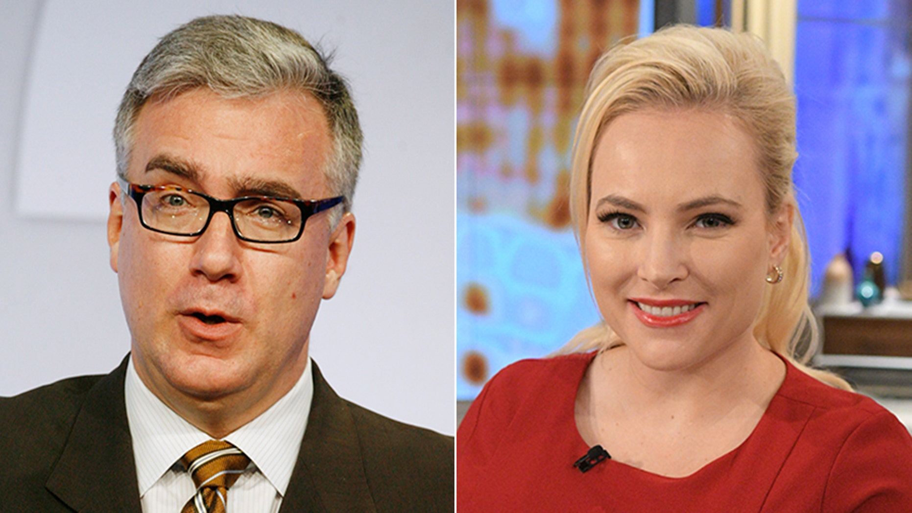 """Keith Olbermann (left) and Meghan McCain got into a heated debate on """"The View"""" Friday morning about Olbermann's claim that President Trump has done more to hurt the U.S. than Usama bin Laden."""