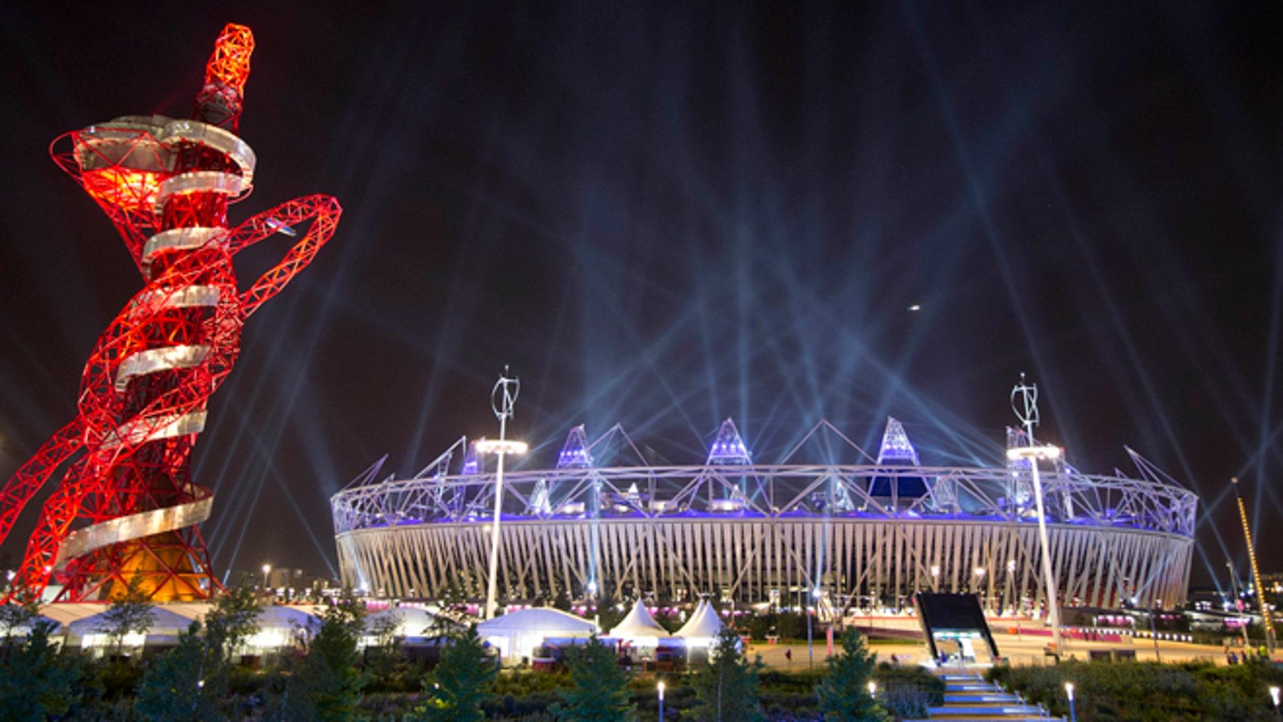 Olympic Stadium in London. (AP Photo/Ben Curtis)