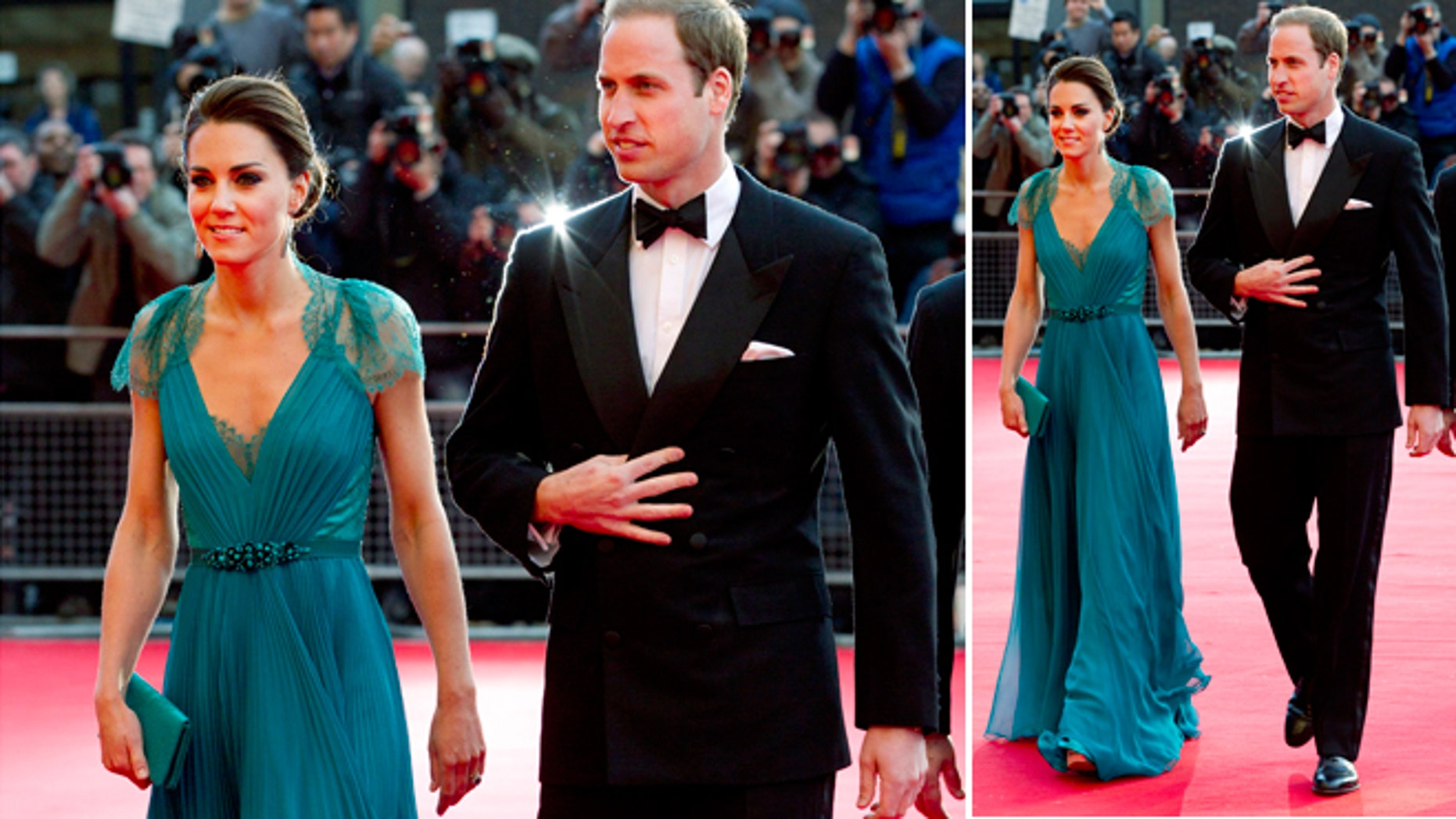 May 11, 2012: Prince William and Kate, Duchess of Cambridge arrive at the Royal Albert Hall for a British Olympic Team GB gala event in London.