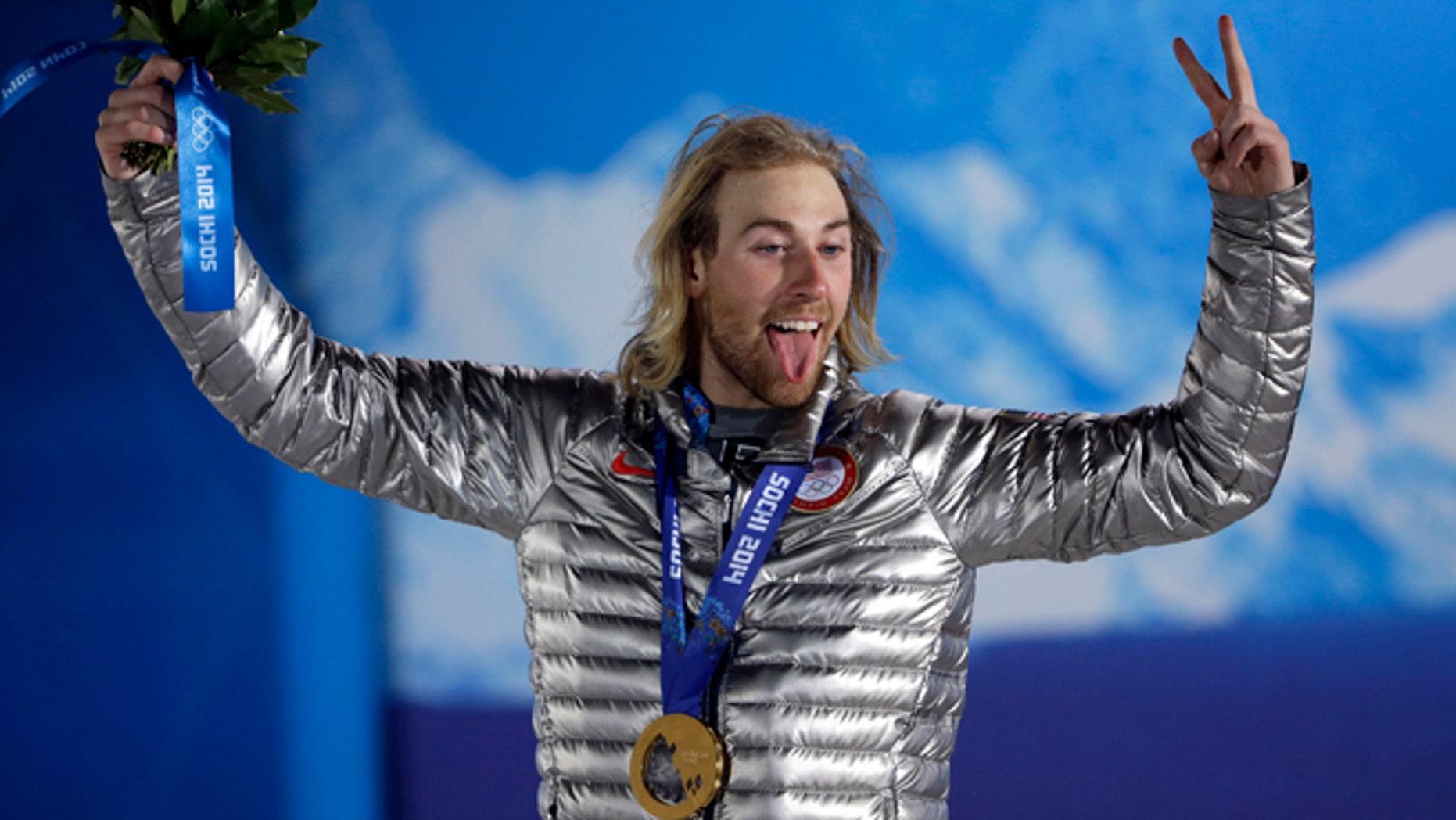 Feb. 8, 2014: U.S. Olympic gold medal winner Sage Kotsenburg in Sochi, Russia.