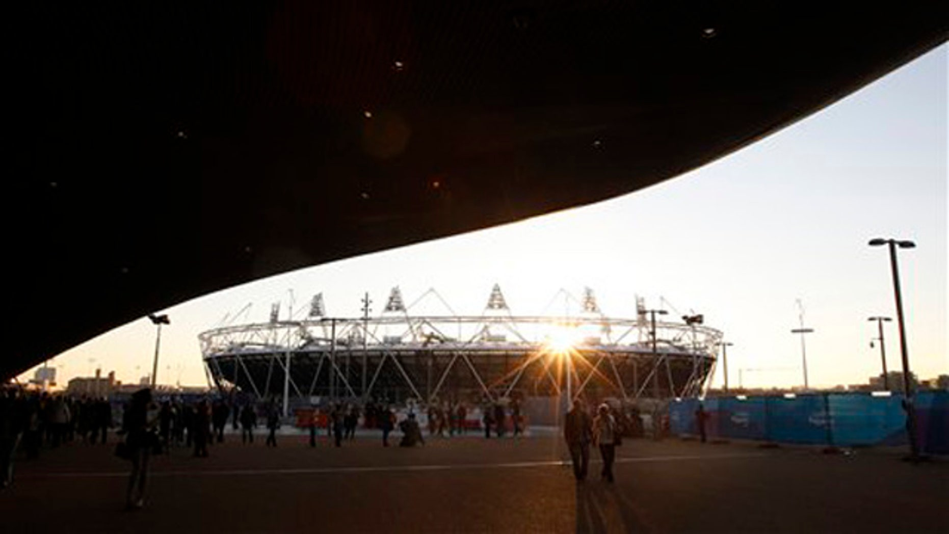 Feb. 23, 2012: The London 2012 Olympic Stadium is seen at about sunset at the Olympic Park in London.
