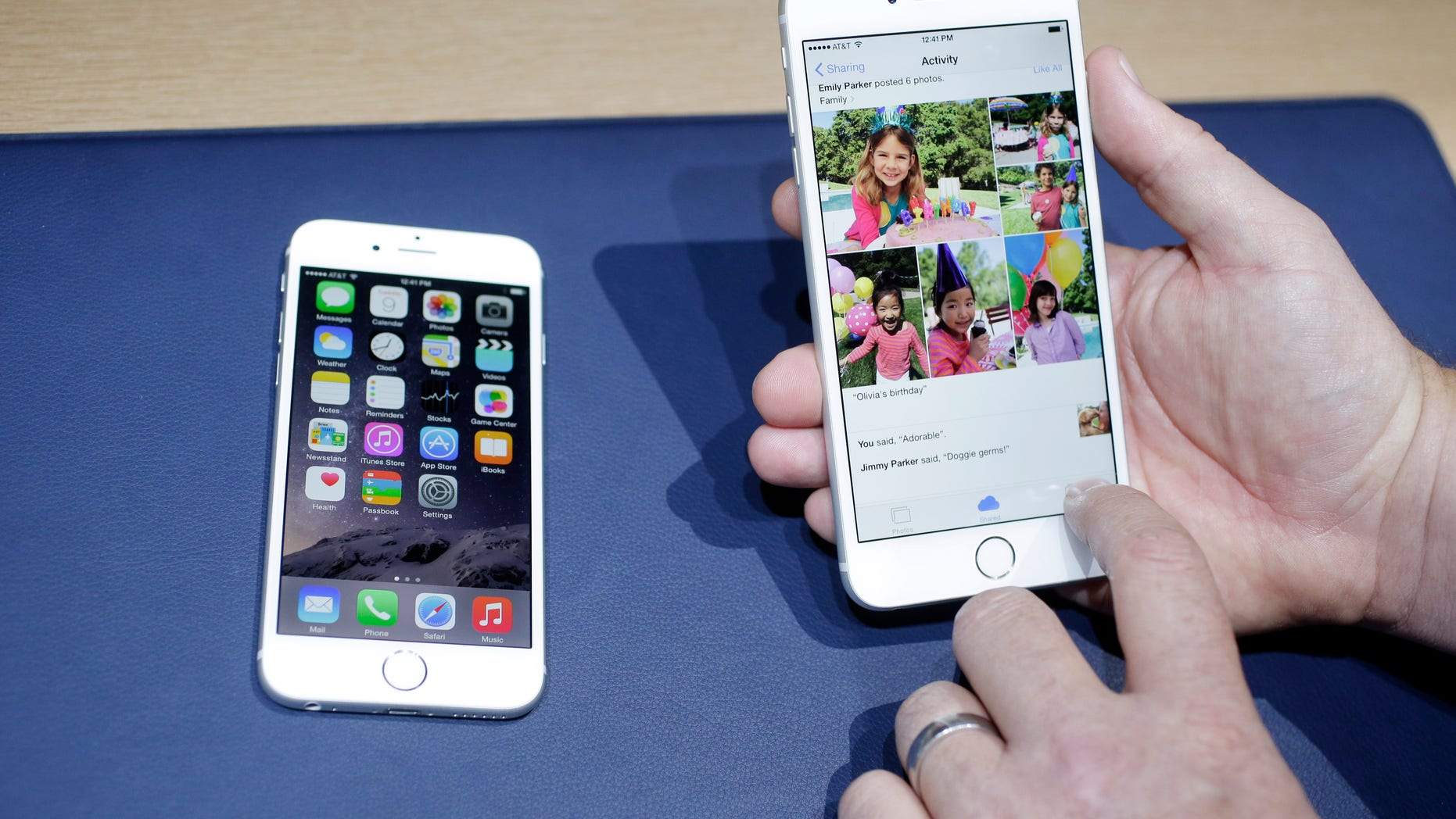 FILE - This Sept. 9, 2014 file photo shows the iPhone 6, at left, and iPhone 6 plus during a new product release in Cupertino, Calif. Selling your old phone online or to companies that buy back used models can often offer a better return than your wireless provider. (AP Photo/Marcio Jose Sanchez, File)