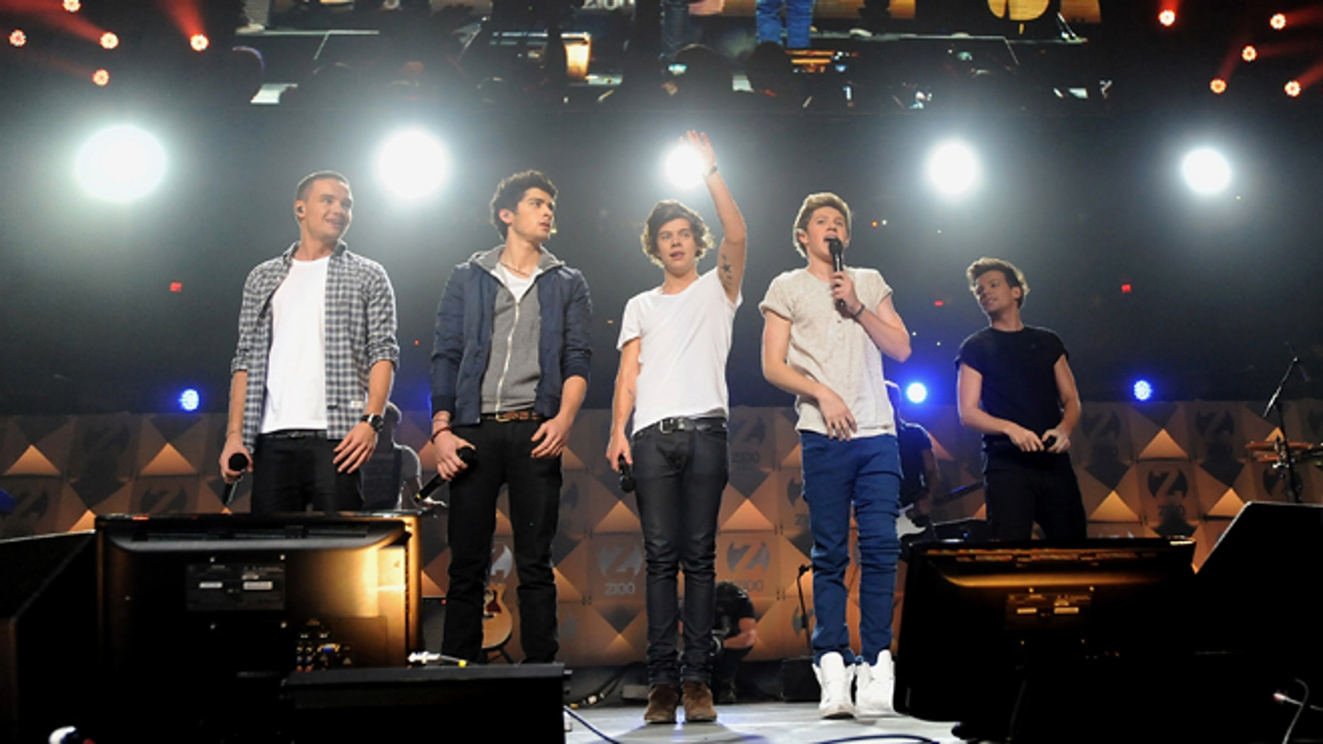 Dec. 7, 2012: One Direction perform at Z100's Jingle Ball 2012 presented by Aeropostale at Madison Square Garden in New York.