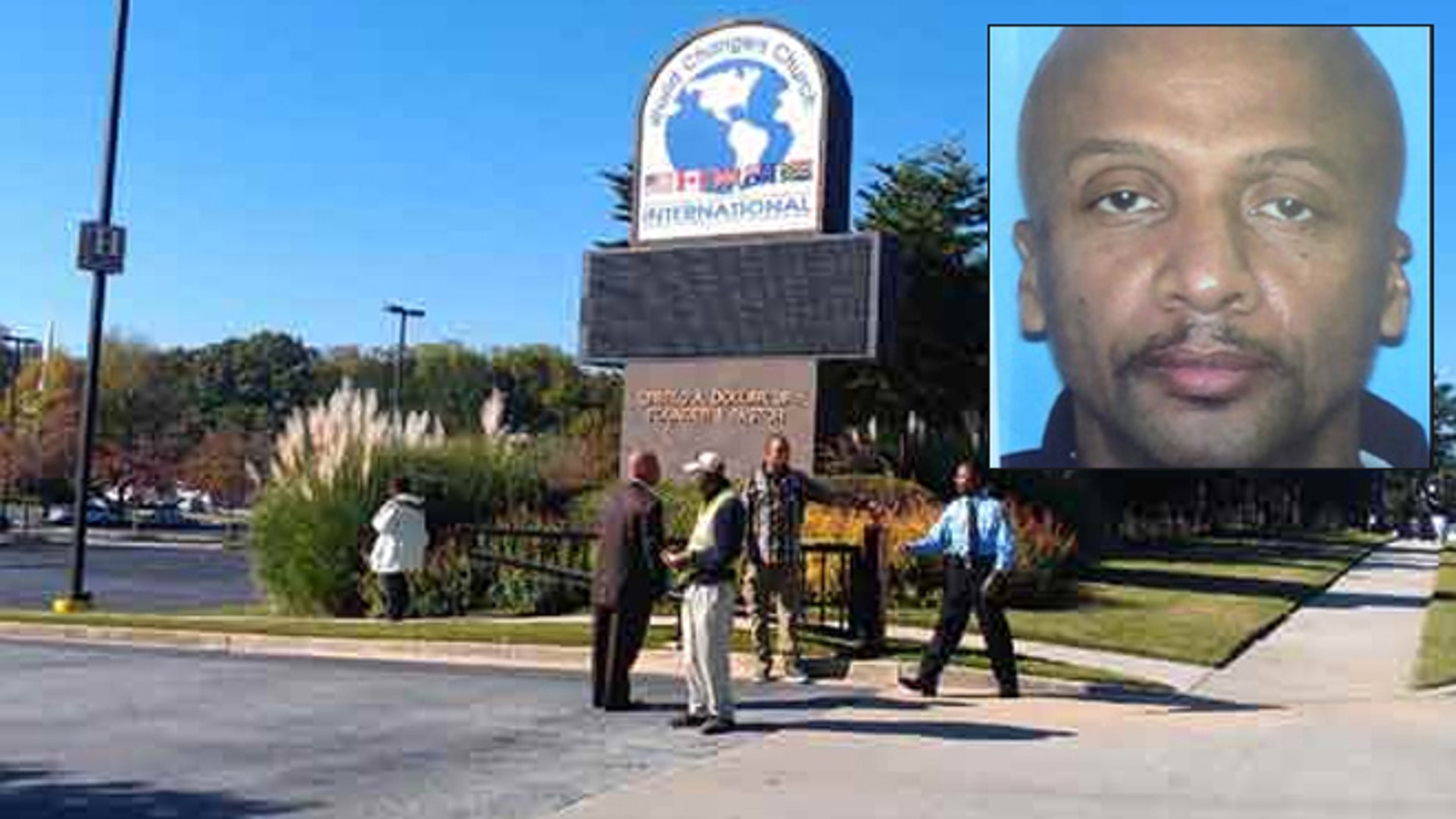 Police on the scene of a deadly shooting at World Changers International Church in College Park. Floyd Palmer was named the suspect.