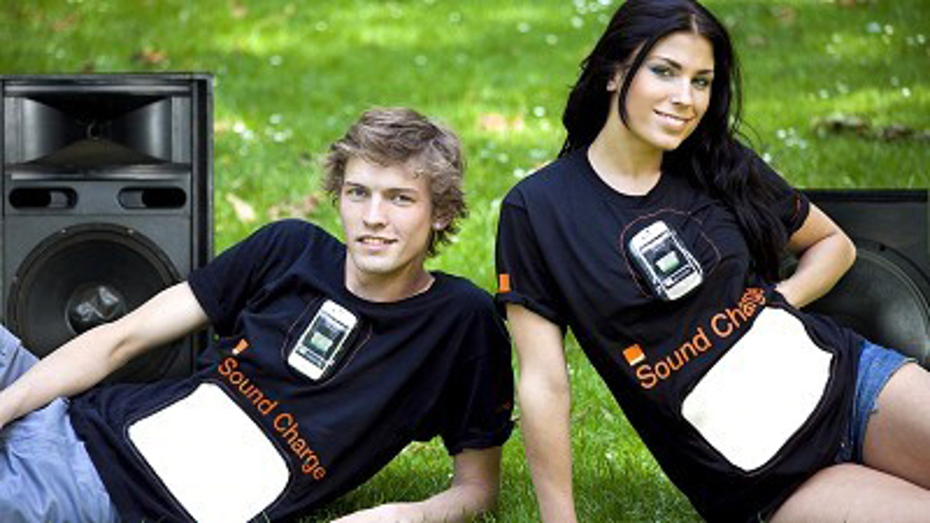 A new experimental t-shirt from mobile phone provider Orange can charge a cell phone.