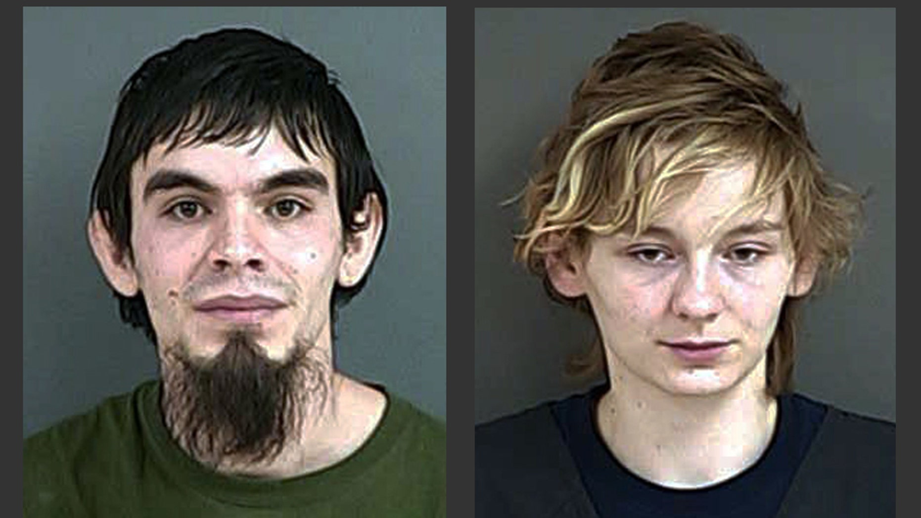 This Tuesday, Feb. 17, 2015 booking photo provided by the Douglas County Sheriff's Office shows Stephen Williams Jr., 26, of Glendale, Ore., and Amanda Hancock. Williams and Hancock were arrested Tuesday at their home in Glendale, Ore., on charges of murder by abuse after their seven-week-old baby boy, Data Hancock, was determined to have died of starvation. (AP Photo/Douglas County Sheriff's Office)