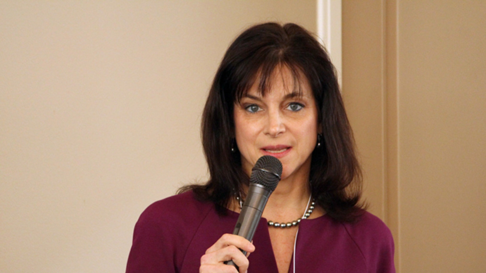 FILE: March 19, 2014: Oregon Republican Senate candidate Monica Wehby at a candidate forum in Lake Oswego, Ore.