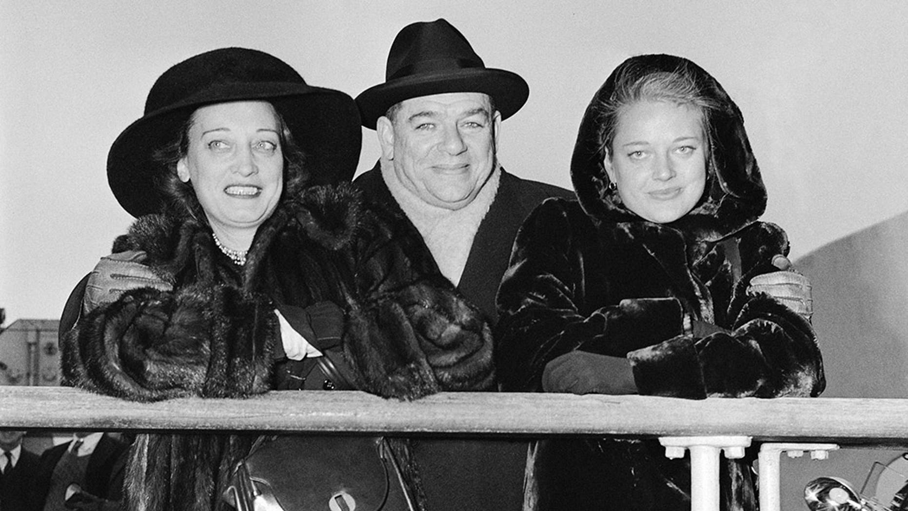 FILE -- Oscar Hammerstein, playwright and producer, his wife Dorothy, and daughter Susan Blanchard, arrive in New York, Dec. 15, 1947, aboard the liner Mauritania from Europe.