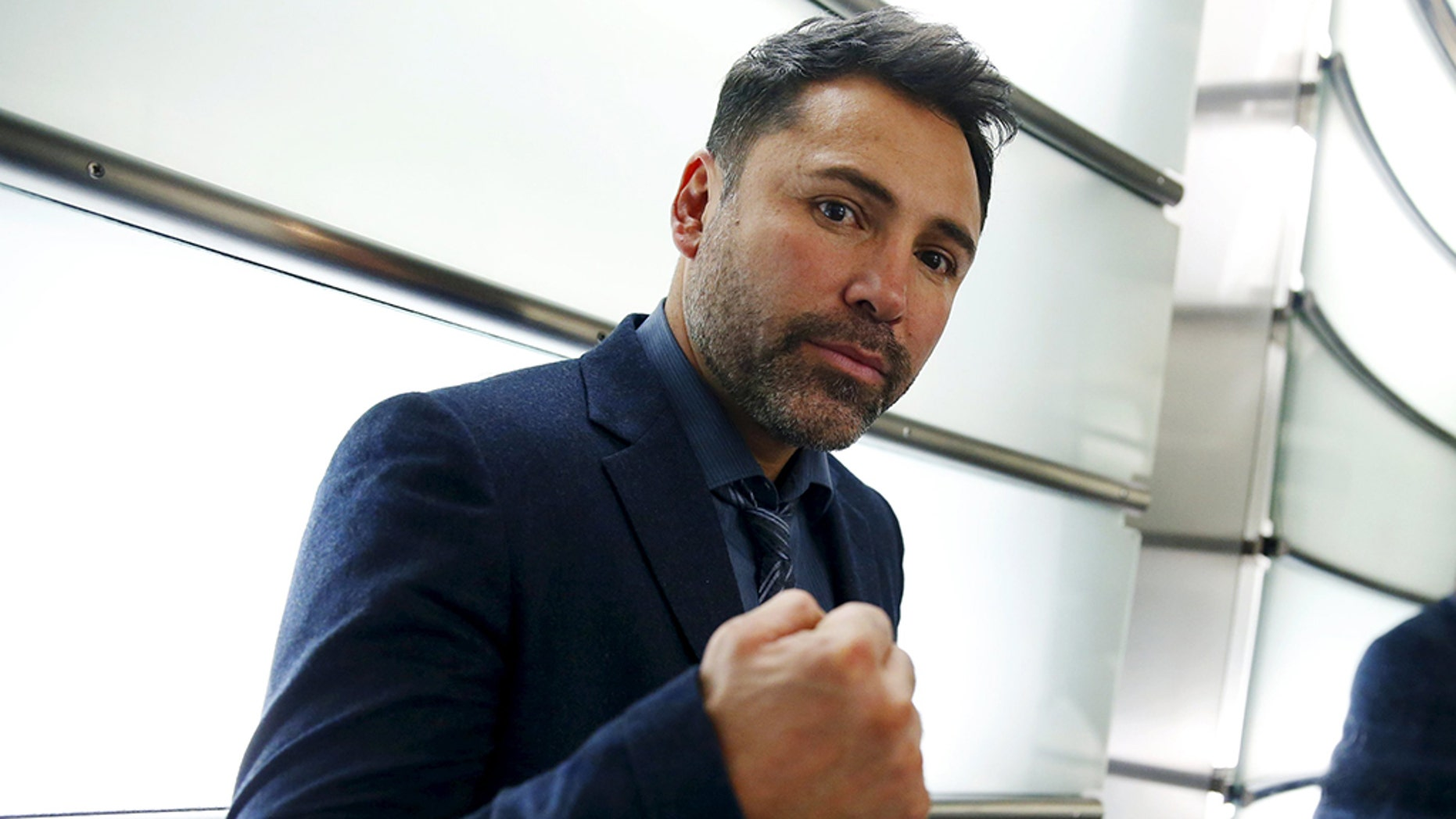 Oscar De La Hoya says he's thinking about running for president.