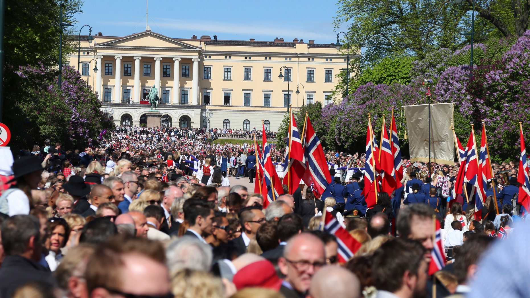 File photo - People gather to take part in the celebration of the Norwegian National Day in the main street of Oslo, in this May 17, 2014 picture provided by NTB Scanpix.