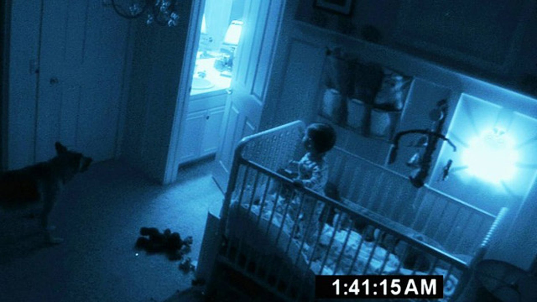 A scene from the film 'Paranormal Activity 2,' shot on a shoestring budget of just $15,000.