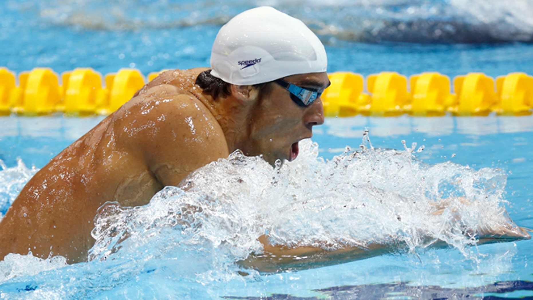 July 28, 2012: USA's Michael Phelps competes in a heat of the men's 400-meter individual medley at the Aquatics Centre in the Olympic Park during the 2012 Summer Olympics in London.