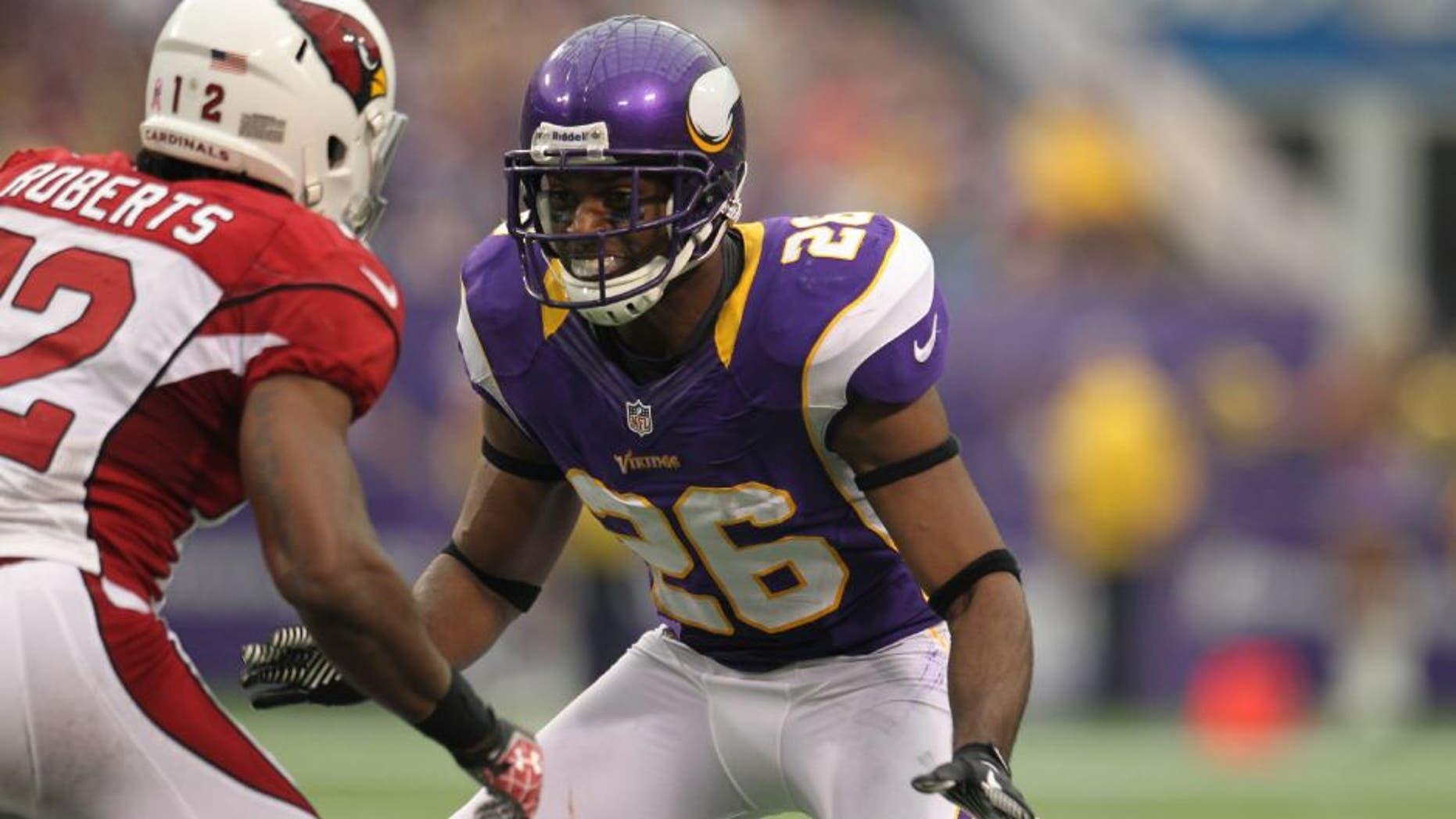 Minnesota Vikings defensive back Antoine Winfield against the Arizona Cardinals.