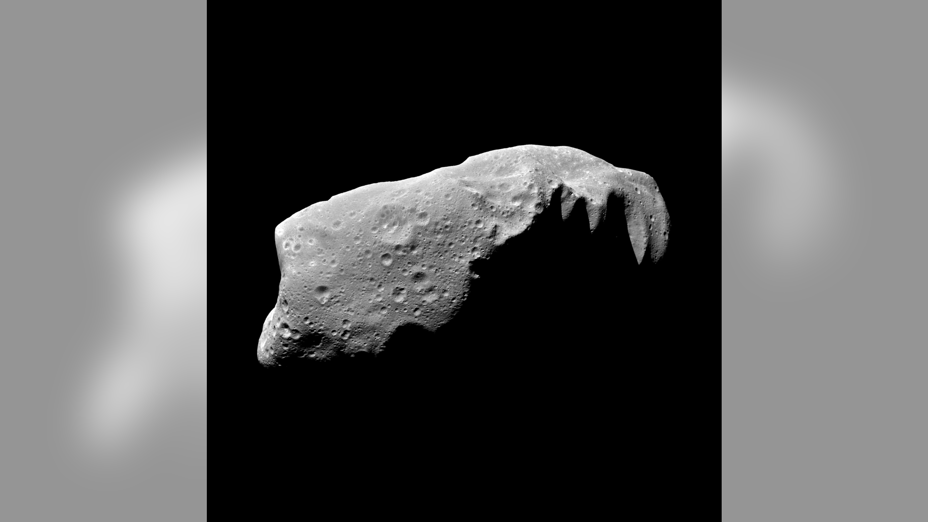 Asteroids like this one, called Ida, can be tricky to weigh in space.