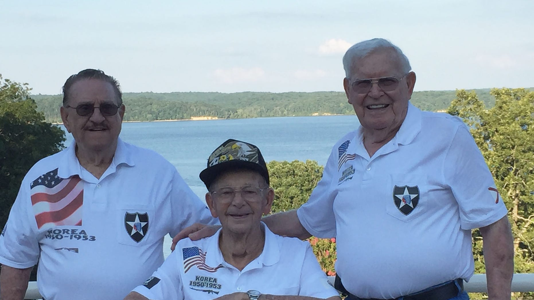(L to R) Rafael Diaz, Les Robertson, and Newton Duke were held by the Chinese as prisoners of war during the Korean War. Last weekend they reunited for the 64th anniversary of their group.