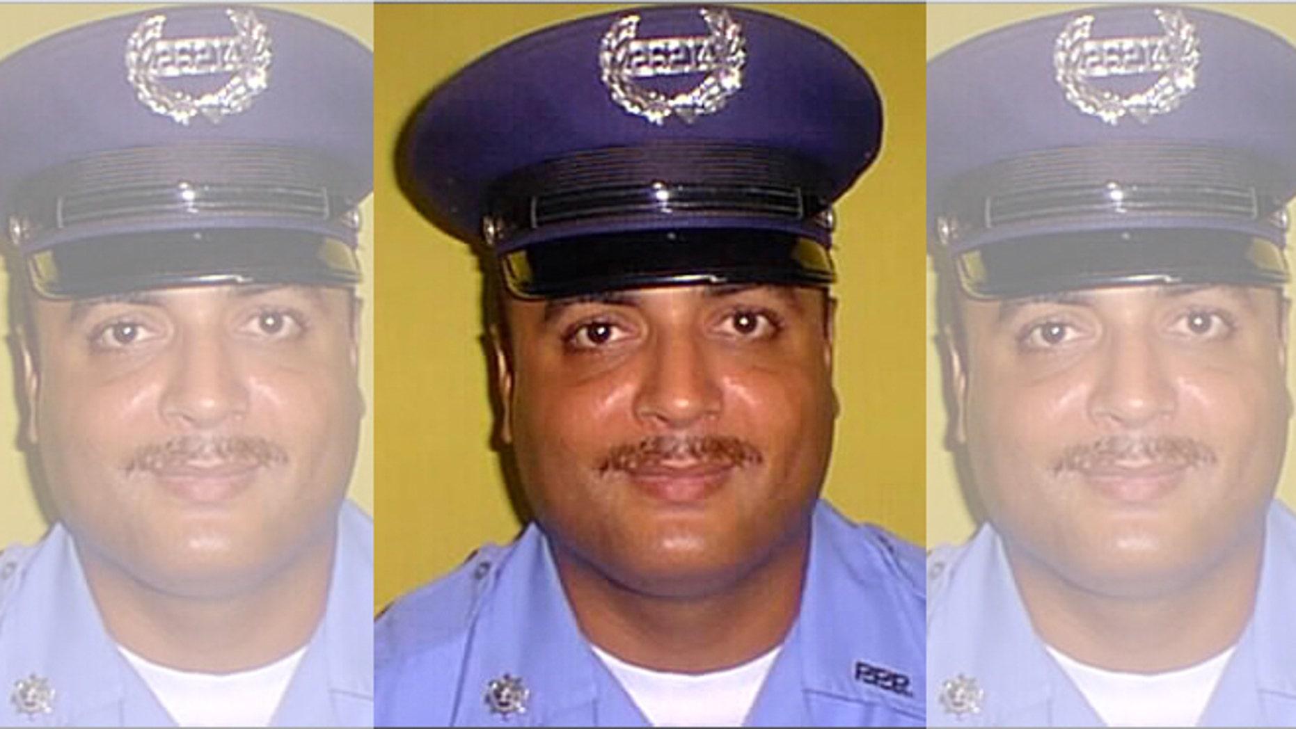 Undated photo of officer Guarionex Candelario Rivera in his uniform in Puerto Rico.