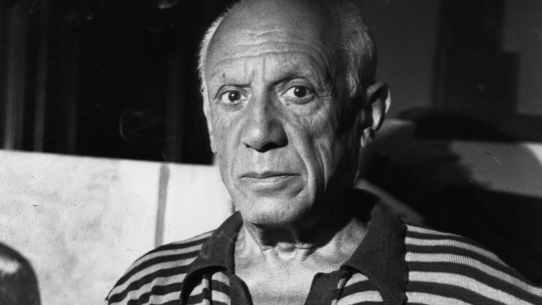 30th September 1955:  Pablo Picasso (1881 - 1973), Spanish painter and pioneer of Cubism.  (Photo by George Stroud/Express/Getty Images)