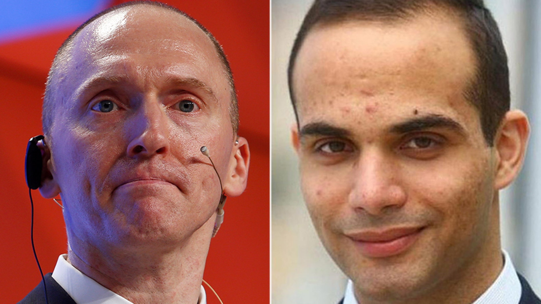 Carter Page (left) and George Papadopoulos.