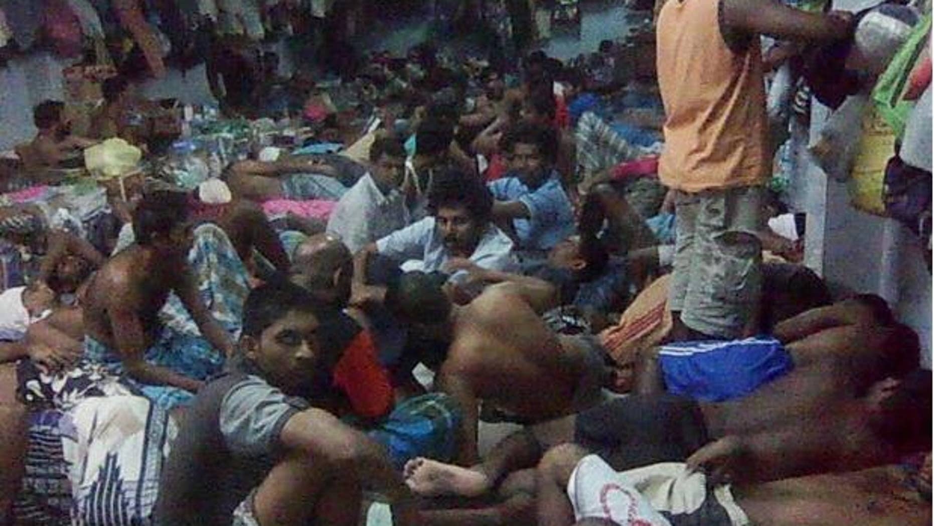 March 2015: Approximately 100 Pakistani Christian refugees sleep in one room in Thailand's Immigration Detention Center.