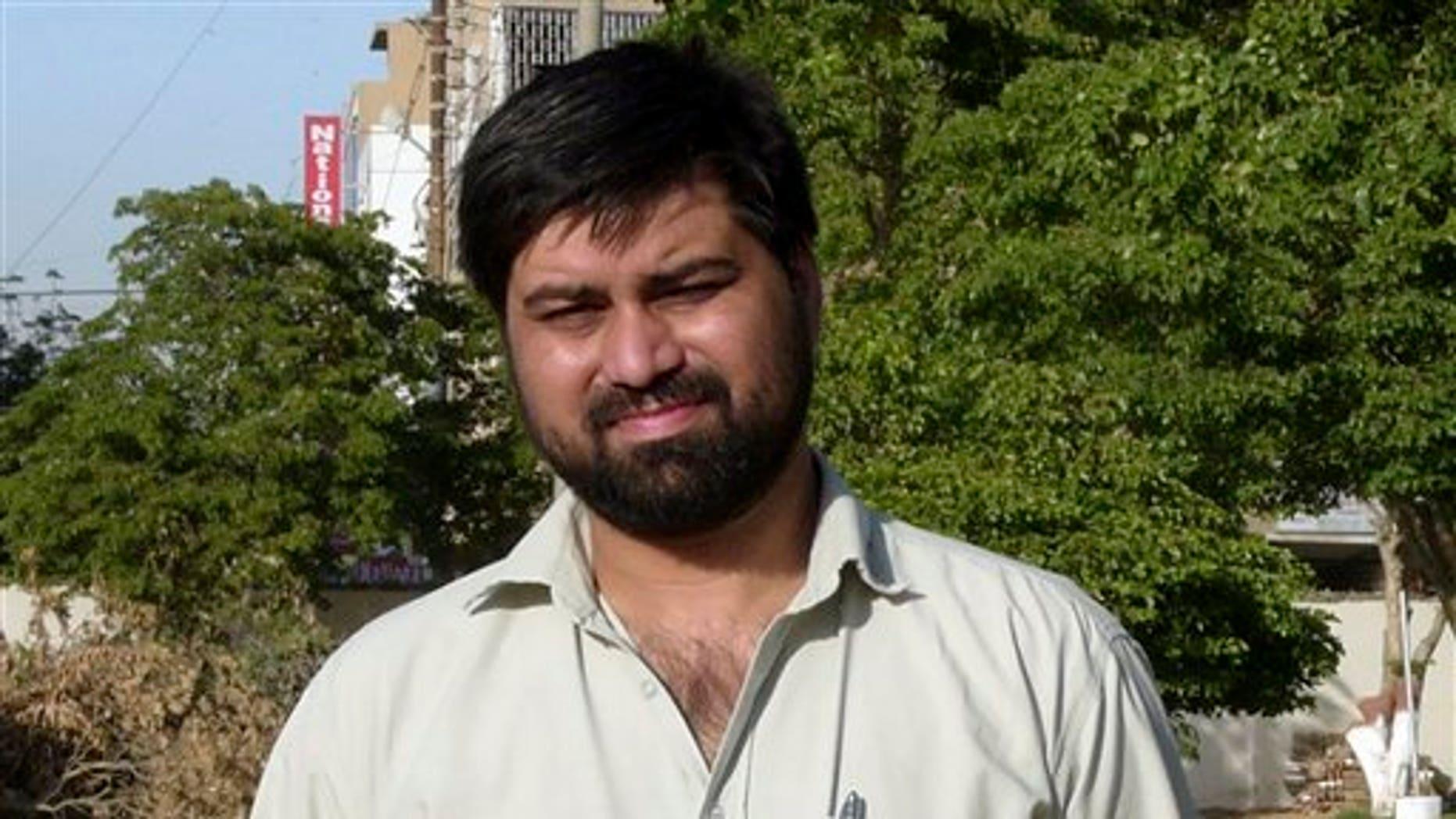 This undated photo provided by Adnkronos news agency shows Pakistani journalist and Adnkronos International correspondent Syed Saleem Shahzad.