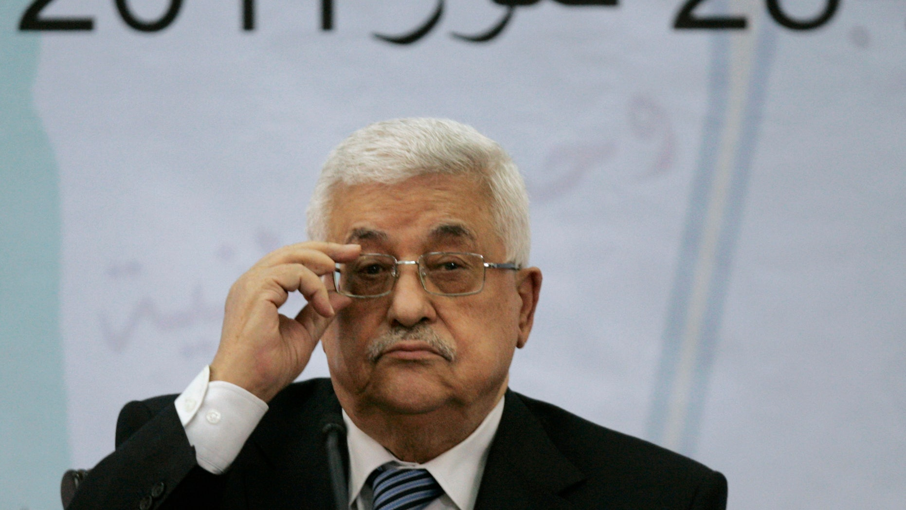 July 27: Palestinian President Mahmoud Abbas attends a meeting of the Central Committee of the Palestine Liberation Organization (PLO), in the West Bank city of Ramallah.