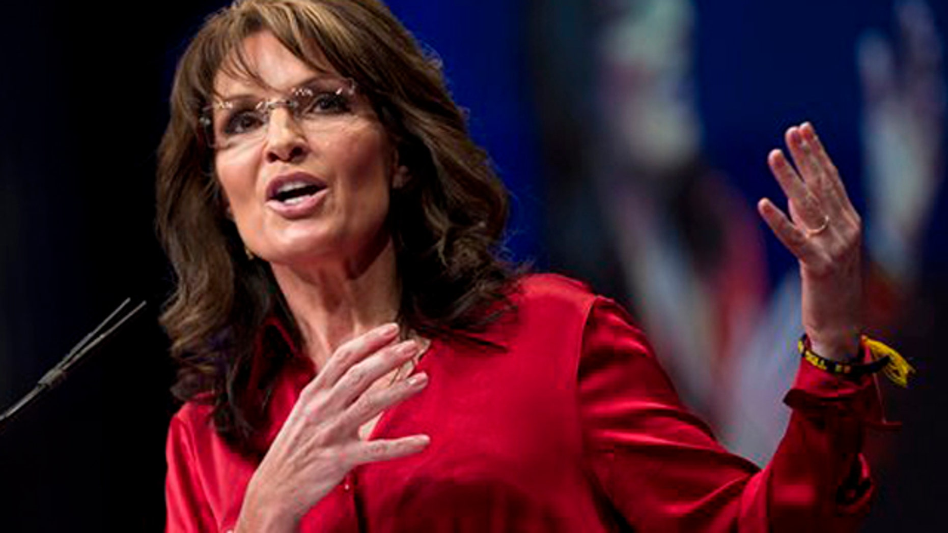Feb. 11, 2012: Sarah Palin, the GOP candidate for vice-president in 2008, and former Alaska governor, delivers the keynote address to activists from America's political right at the Conservative Political Action Conference (CPAC).