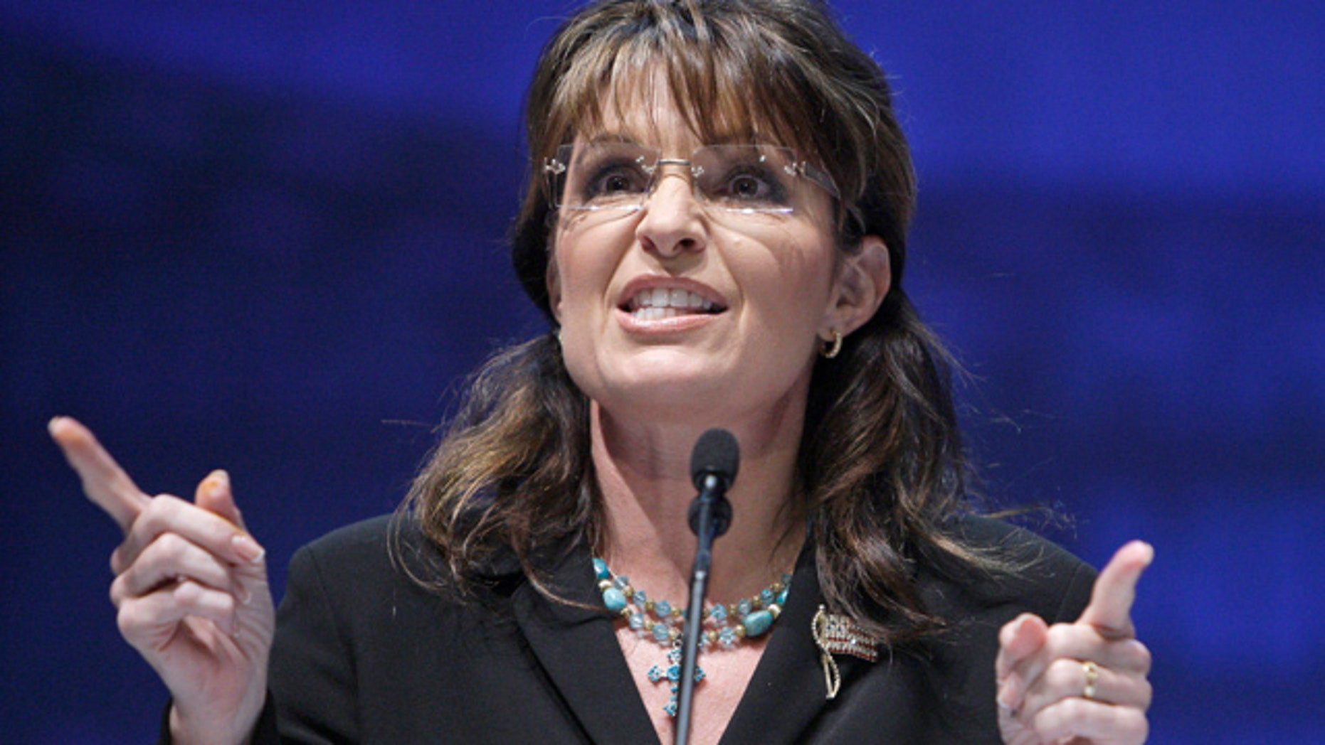 May 14: Sarah Palin speaks during the NRA national convention in Charlotte, N.C.